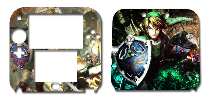Zelda Nintendo 2DS Vinyl Skin Decal Sticker