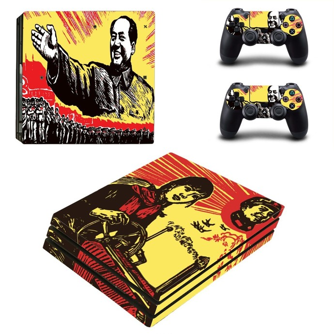 Chinese Revolution PS4 PRO edition skin Sticker decal Console and controllers