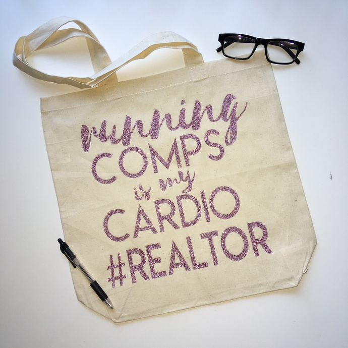 Personalized Realtor Tote Bag, Closing Gifts, Real Estate Agent Gifts