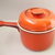 Vintage Mid Century Modern West Germany Ceramic  red Pot or Bowl with Lid and