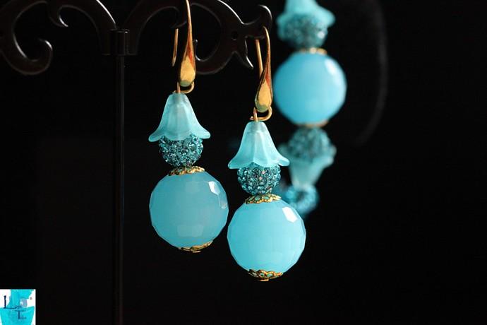 BubbleGum Blue Earrings