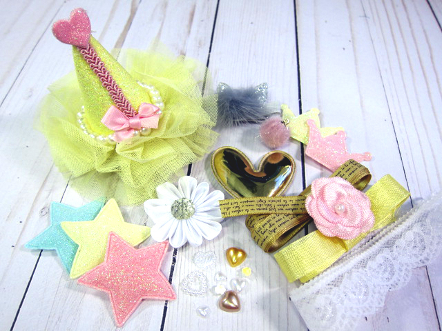 Cutie Embellishment sets - Whimsical  Hat