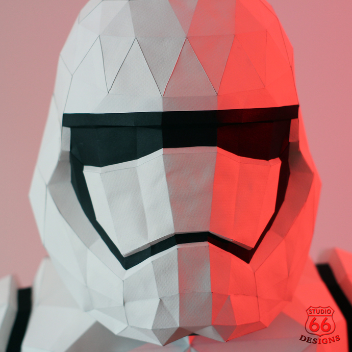 Star Wars, Stormtrooper, Papercraft Stormtrooper Helmet, Paper Statue, Home  Decor, 3D papercraft model, Rogue One, Last Jedi, lowpoly DIY