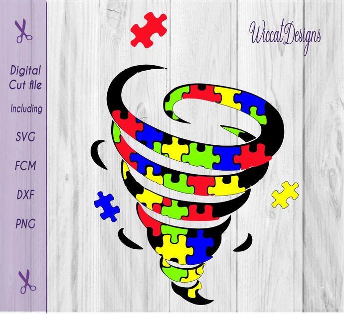 Free file, Tornado svg,  Autism svg, Puzzle svg, pinup girl svg, awareness svg,