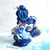 China blue mermaid figurine. One of a kind. Ready to ship.