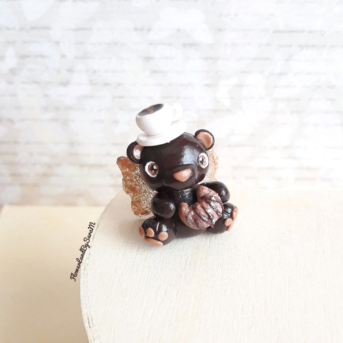 Coffe breakfast bear Minitiny. One of a kind