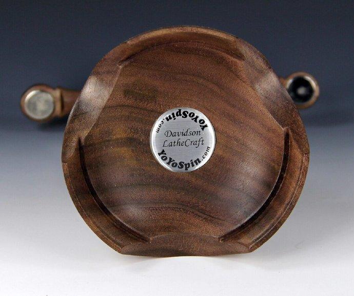 Display For Two Tops - Lathe Turned American Walnut & Box Elder Burl
