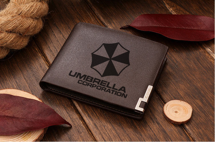 Resident Evil Umbrella Corporation version 3 Leather Wallet