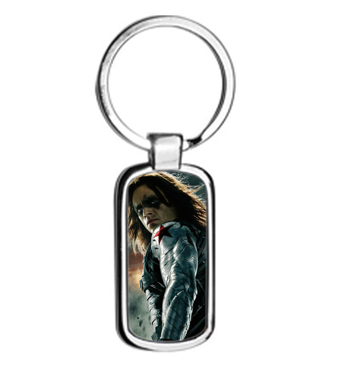 Winter Soldier metal Keychain