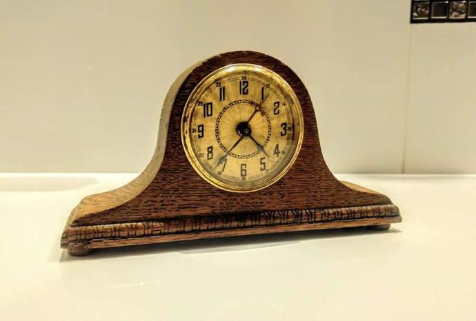 Fireplace clock  Napoleon retro vintage clock old loft   * * Free Air Shipping