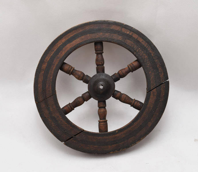 antique wooden wheel - Country decor - Wooden wheel - old decor Wooden wheel -