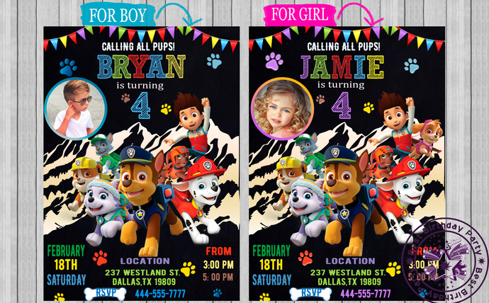 image relating to Printable Paw Patrol Invitations identify Paw Patrol birthday Invitation, Paw Patrol Invites, Paw Patrol boy, Paw Patrol Woman, Paw Patrol Invitation with Picture, Printable, JPEG