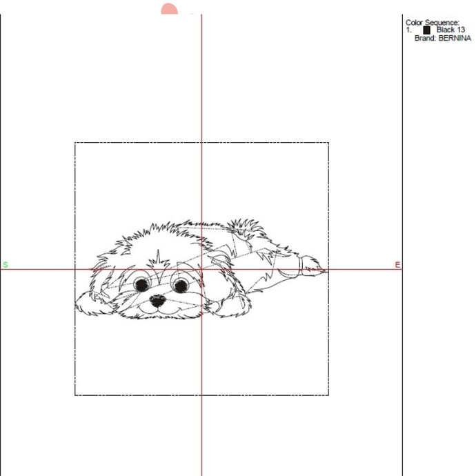 Bichon Havanese machine embroidery designs design instant digital download