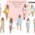 Watercolour fashion illustration clipart - Summer Girls 1 - Dark Skin