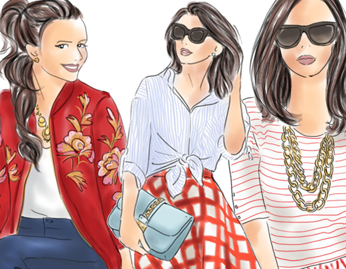 Watercolour fashion illustration clipart - Fashion Girls 5