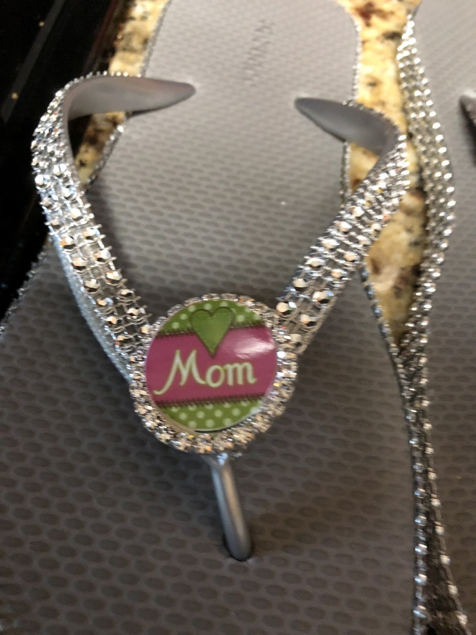 Mom flip flops, Mom sandals, Mothers day gift, gift for mom