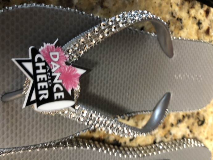 903c65fc4160 Dance and cheer flip flops