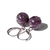 Lepidolite Sterling Earrings Dark Purple Natural Stone Plum Berry Eggplant