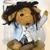 Troll doll, handmade troll doll, knitted felted wool art doll, troll art doll,