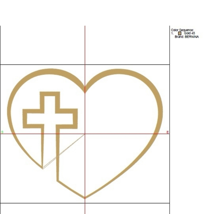 Heart Cross Machine Embroidery Design cross designs pes machine digital instant