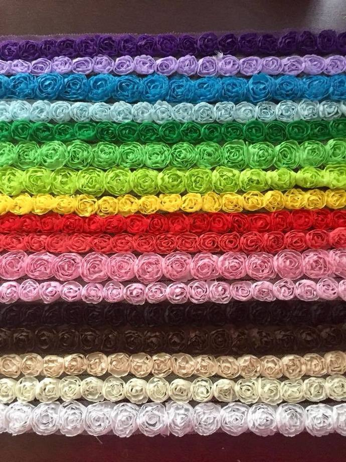 Mini Rosette Trims - 25 Yard Lot 6