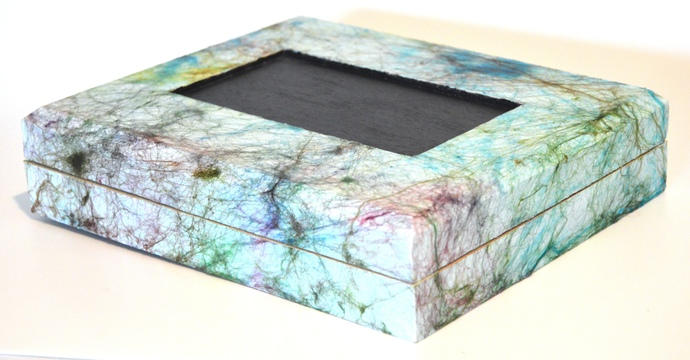 Repainted Recycled Cigar Box Materials Home Decor Mixed Media
