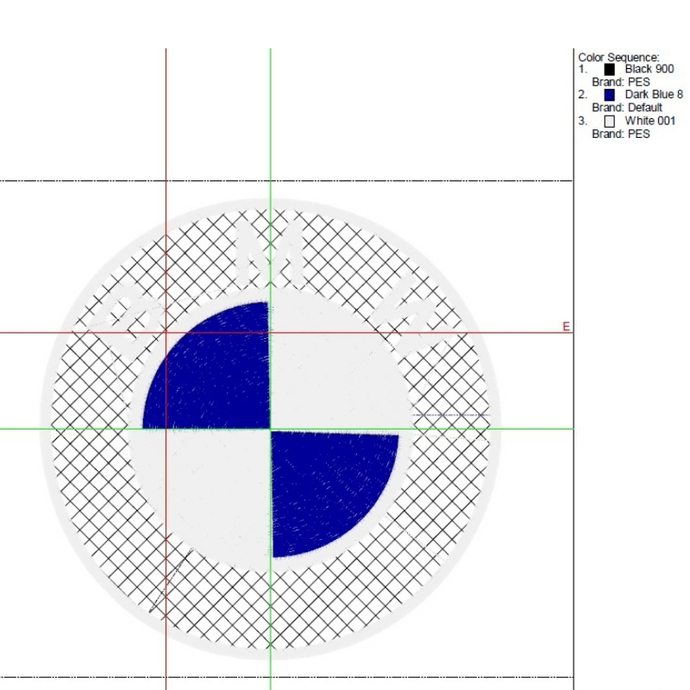 BMW Embroidery Machine Designs logo pes file in the hoop car pattern