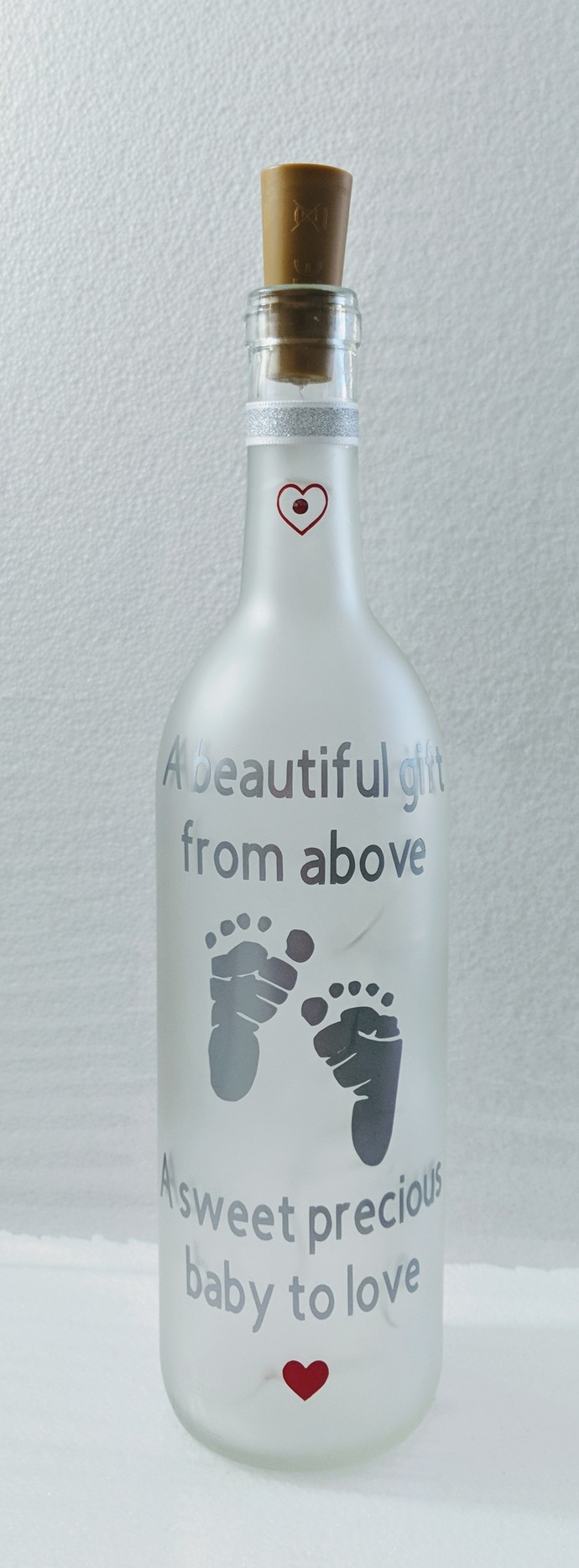 Gender reveal Light bottle.