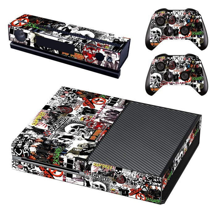 Music bands  decal skin for xbox one console and 2 controllers