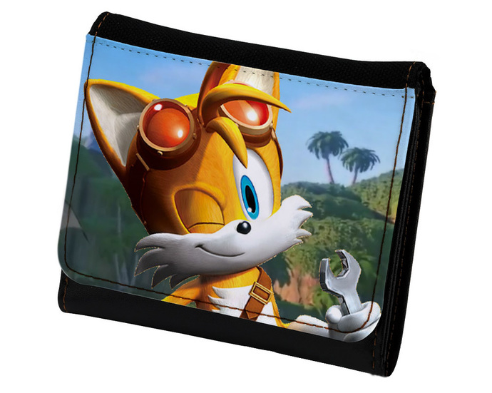 Sonic The Hedgehog Tails Pu Leather Wallet By Goku On Zibbet