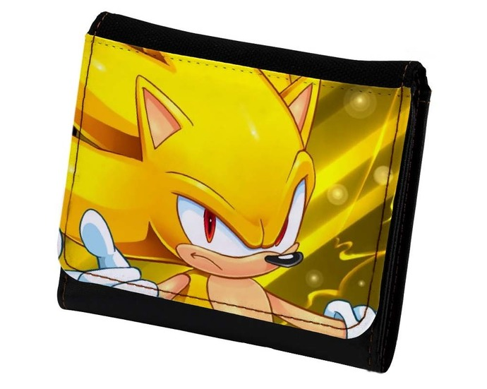 Super Sonic The Hedgehog Pu Leather Wallet By Goku On Zibbet