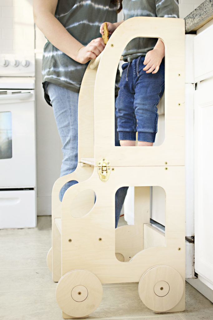 Montessori kitchen step stool for children/ table and chair - NOT PAINTED