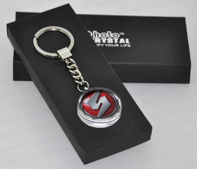 Metroid Crystal Keychain