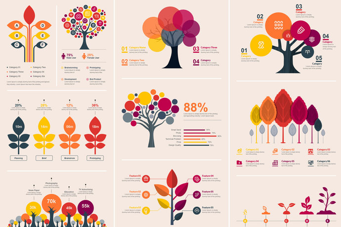 vector tree infographic elements template by contestdesign on zibbet