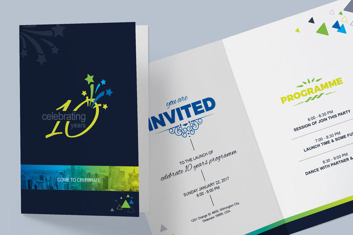 Corporate Invitation Card Design Template | Instant Download | Digital File