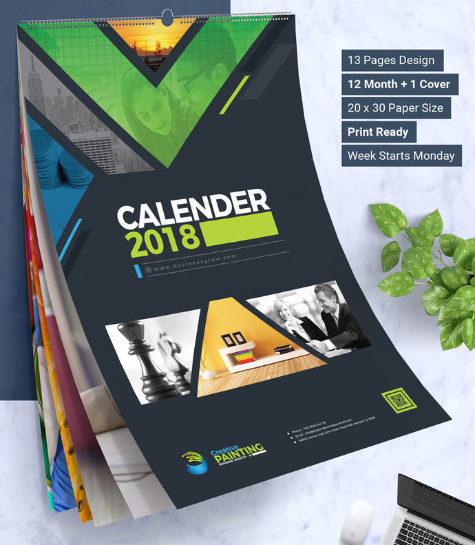 2018 Wall And Desk Calendar Design Corporate By Contestdesign On