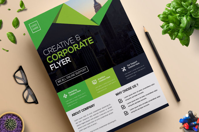 corporate business flyer design template by contestdesign on zibbet