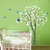 Tree wall decal owl children Nature Green Tree Wall mural Nursery wall decal