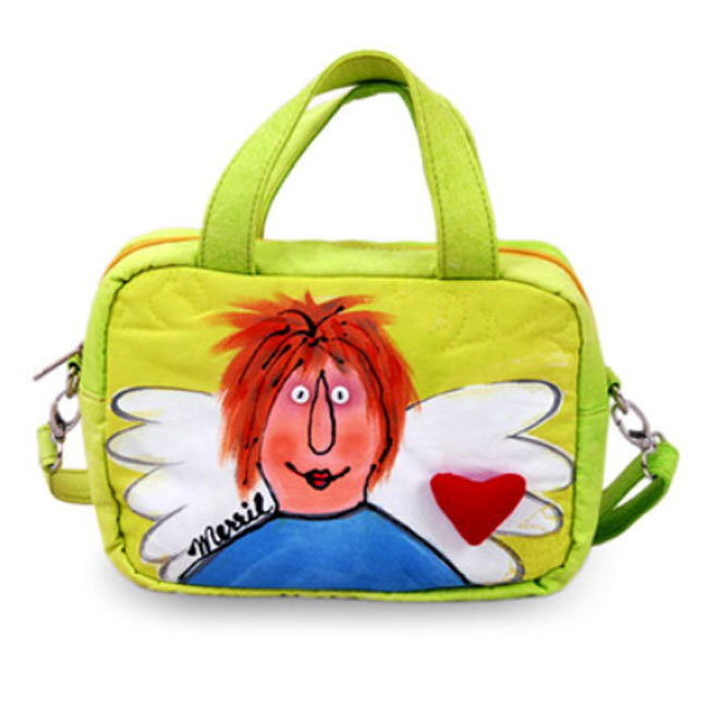 BrightWorld Angel Painted Shoulder Tote Bag - Small
