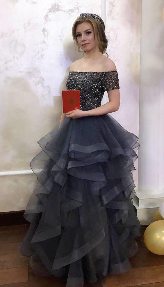 0d923e6c1e4 Gorgeous Off the shoulder Sky Blue Long Prom by prom dresses on Zibbet