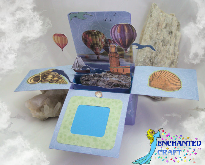 Pop-up Hot Air Balloon Card handmade- choose thank you, Happy Birthday or other
