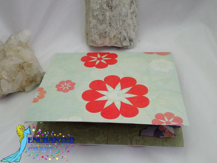 Pop-up Garden of flowers and Japanese Bridge Card handmade- choose thank you,
