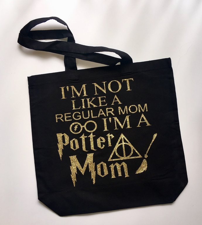 Harry Potter, potter mom, totes with zippers, jumbo tote bags, mom bags, diaper