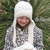 Knitting Pattern 201 Knitted Earflap Hat Faux Fur Pompom Winter Cream Hat Boy
