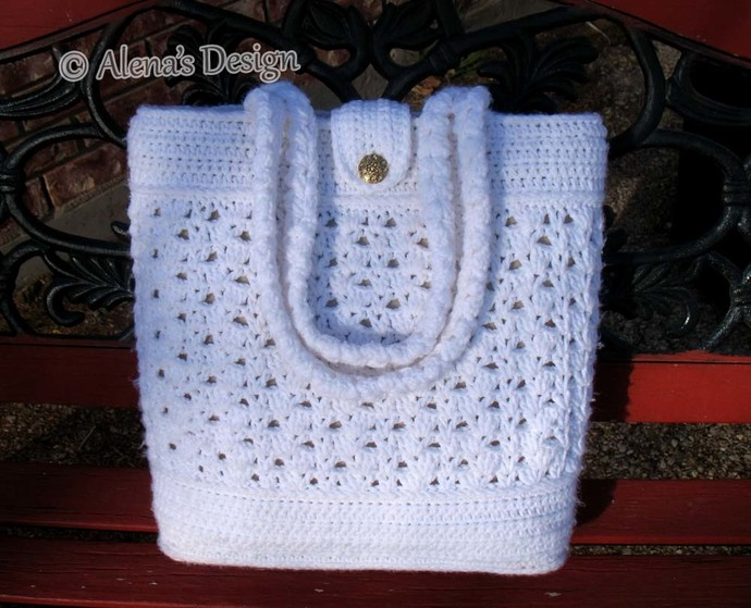 Crochet Tote Bag Pattern Crochet Pattern 208 By Alenasdesign On Zibbet