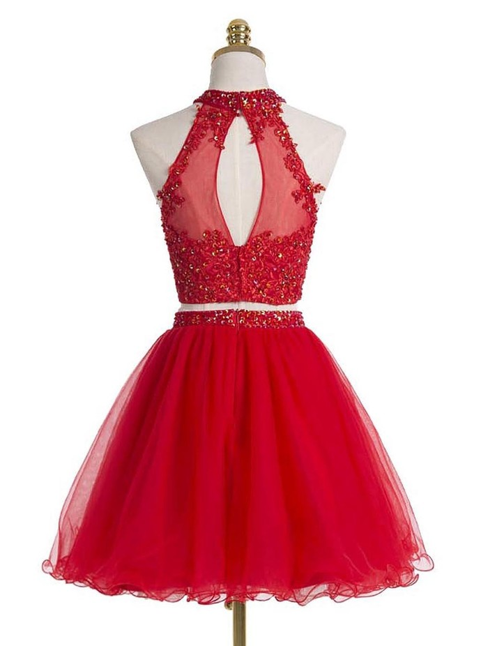 Red Two Pieces Homecoming Dress,Sexy Party Dress,Charming Homecoming Dress,Cheap