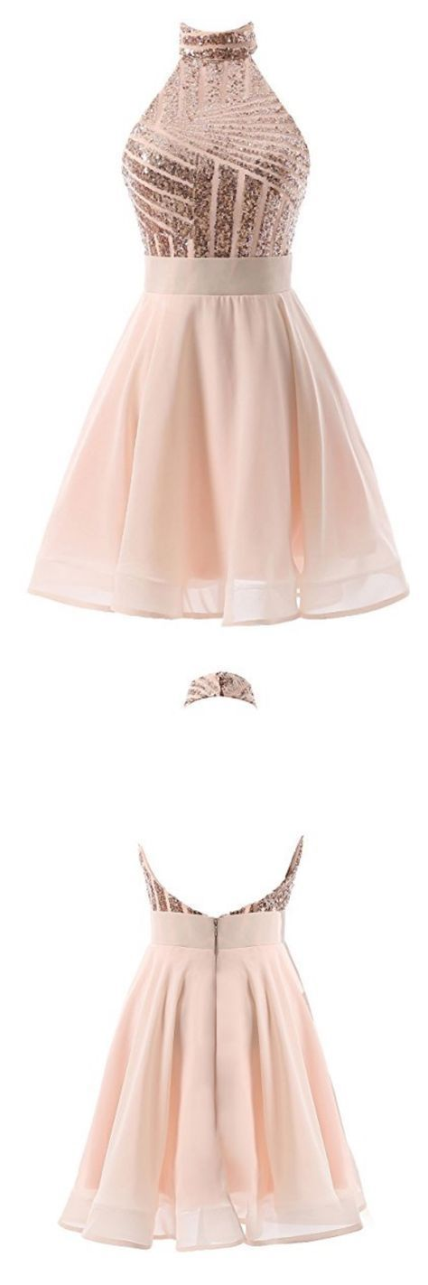 halter homecoming dresses,  homecoming dresses,sequins homecoming dresses,knee