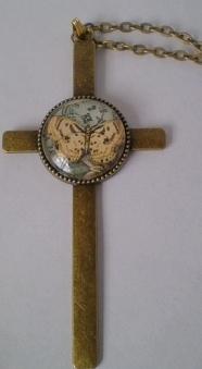Brass Butterfly Cross