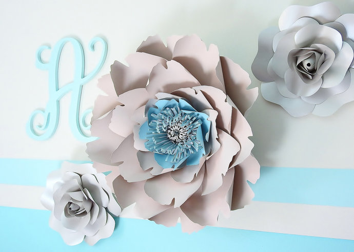 Large paper peony giant paper flowers large by ivacrafts on zibbet large paper peony giant paper flowers large paper flower backdrop wedding mightylinksfo