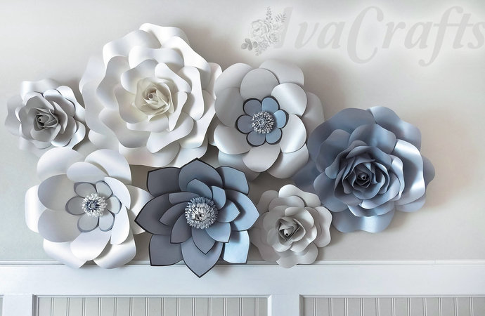 Giant paper flowers large paper flowers flower by ivacrafts on giant paper flowers large paper flowers flower backdrop wedding decor mightylinksfo Images